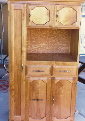 1989   A Stand Alone Pantry Cabinet. I Designed It For A Broom Closet On  The Left, A Microwave Compartment, Some Drawers, And A Full Extension  Cookie Sheet ...